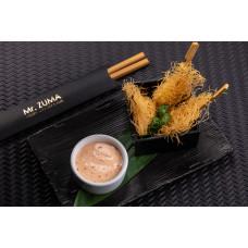 Попкорн із тигрових креветок з соусом ікура-майонез