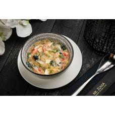 Суп з крабом та яйцем у бульйоні клер