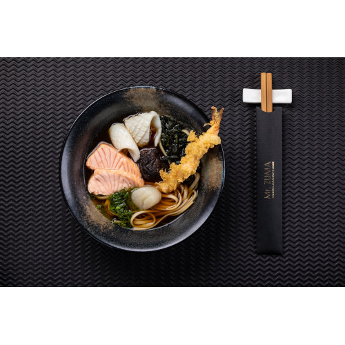 Суп удон з морепродуктами в бульйоні клер